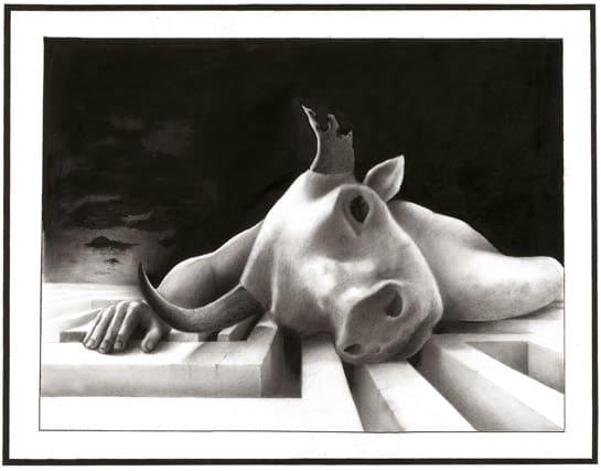 Giulio Canepa Art Disegni Minotauro