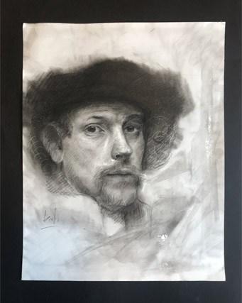Giulio Canepa Art Disegni Omaggio Rembrandt