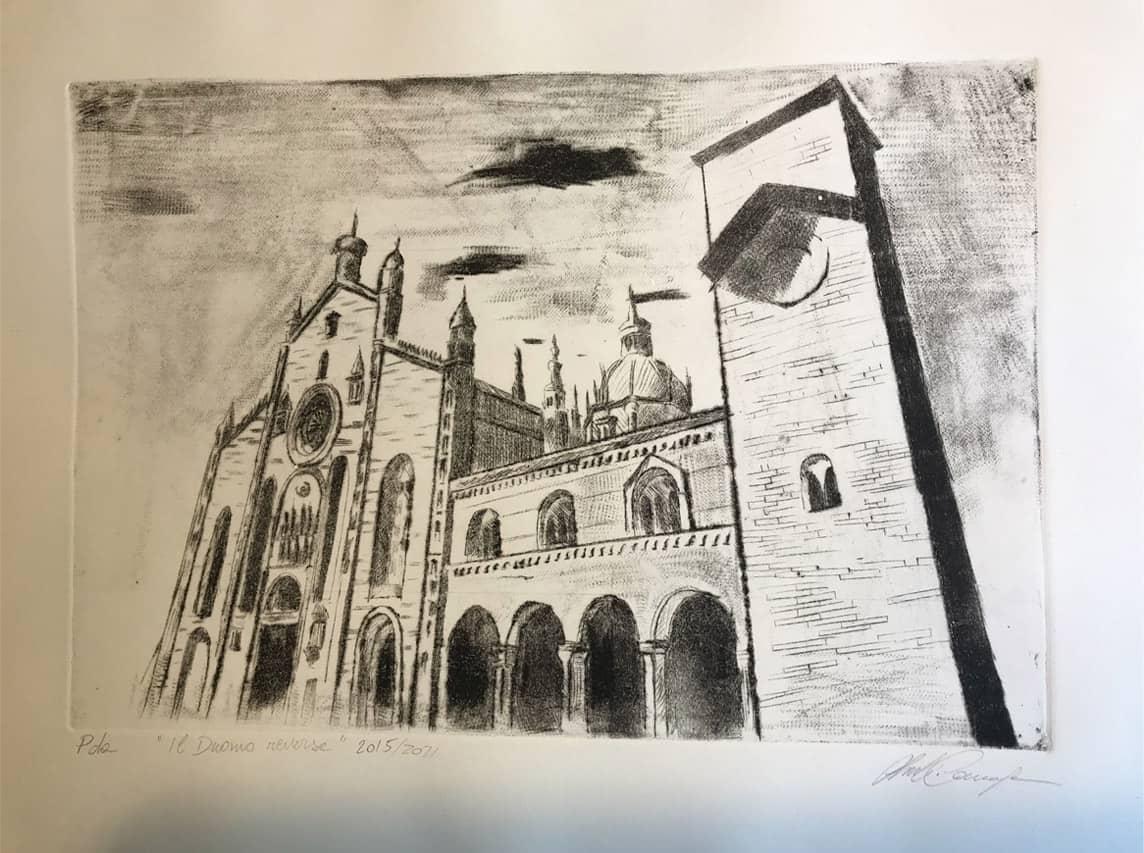 Giulio Canepa Art Incisione Duomo Reverse