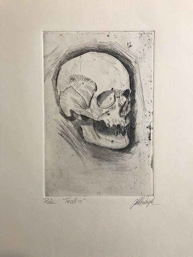 Giulio Canepa Art Incisione Teschio 01
