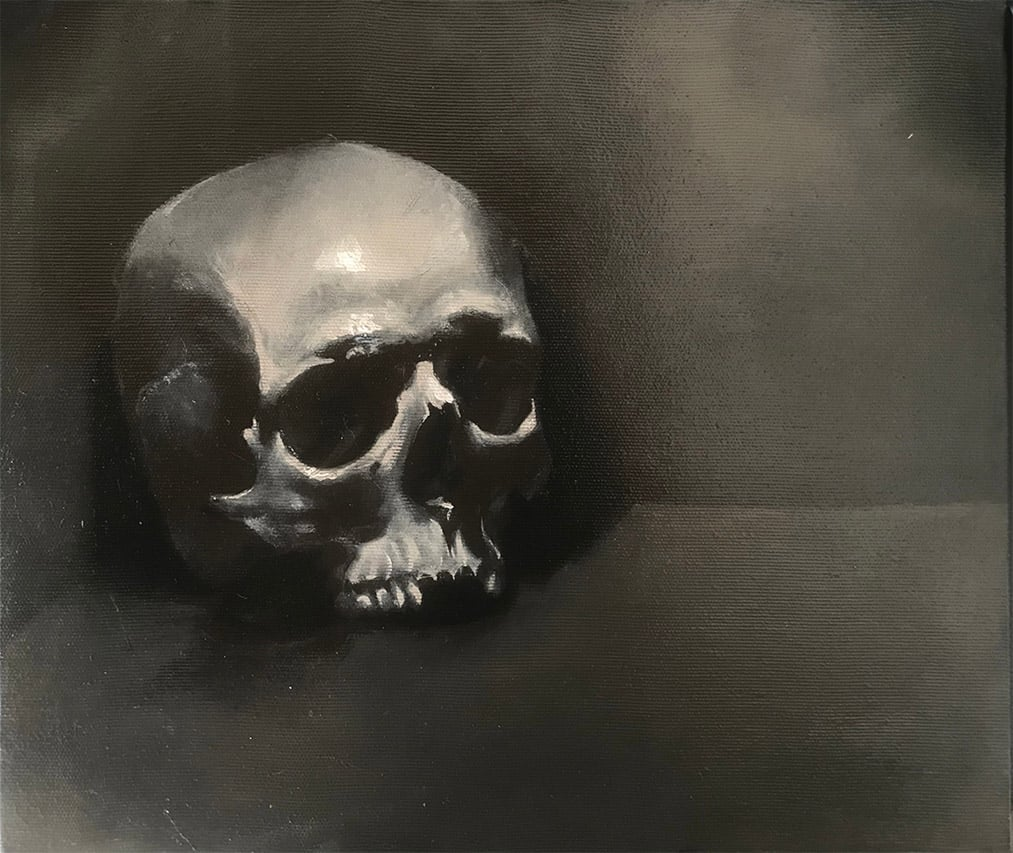 Giulio Canepa Art Pittura Teschio Luce 01 001
