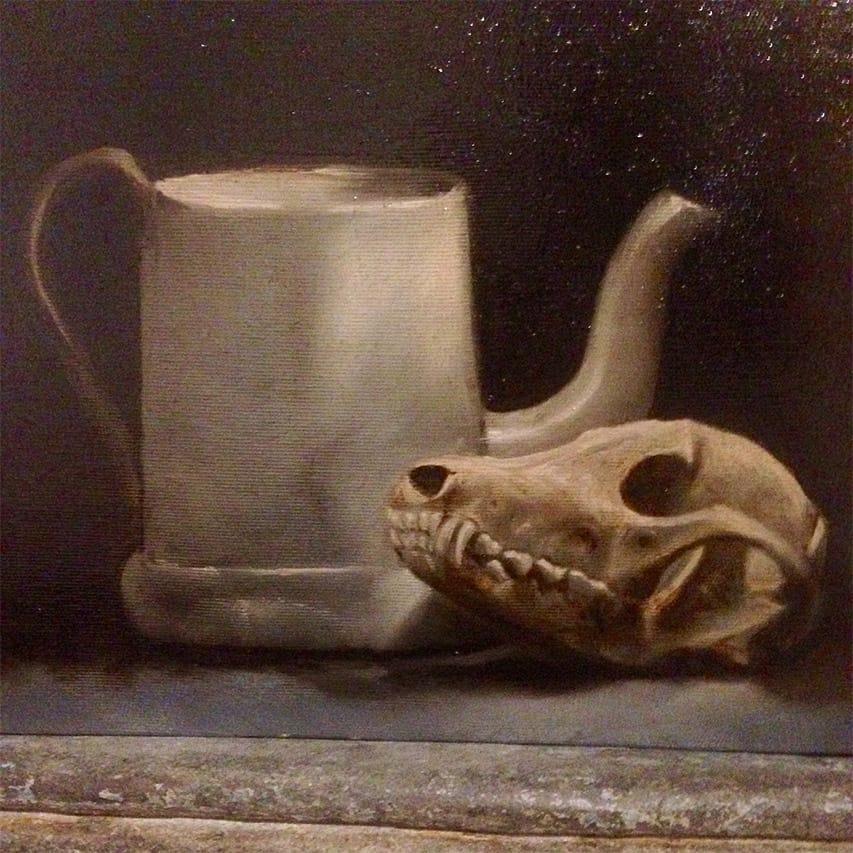Giulio Canepa Art Pittura Teschio Volpe Brocca 01 001
