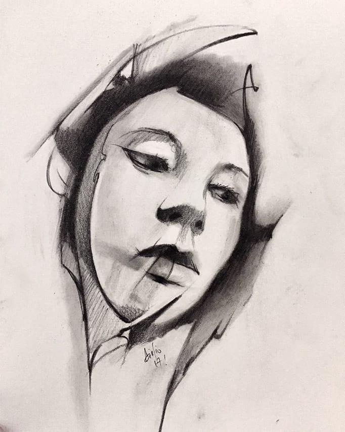 Giulio Canepa Art Sketch Face