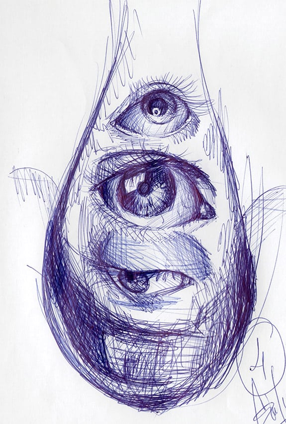 Giulio Canepa Art Sketch Goccia Sguardo