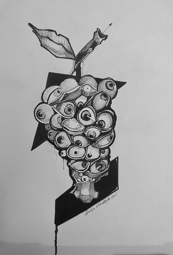 Giulio Canepa Art Sketch Occhio Di Vino