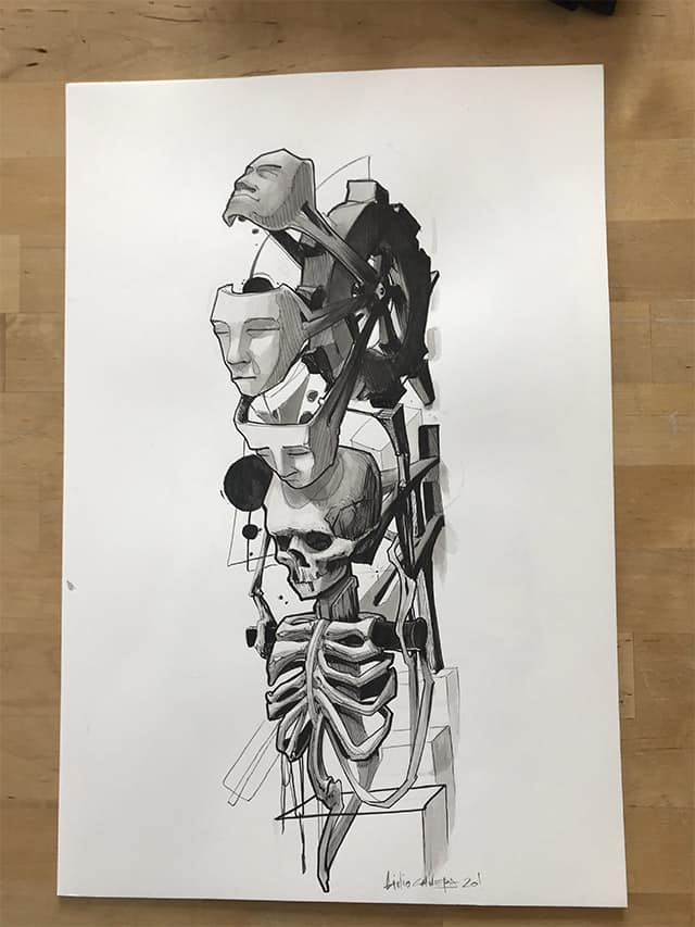 Giulio Canepa Art Sketch Personalità