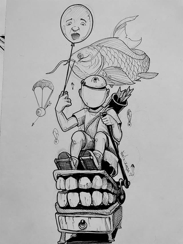 Giulio Canepa Art Sketch Sognare