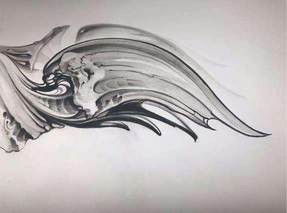 Giulio Canepa Sketch Piuma