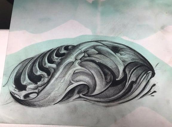 Giulio Canepa Sketch Spalla Avambraccio