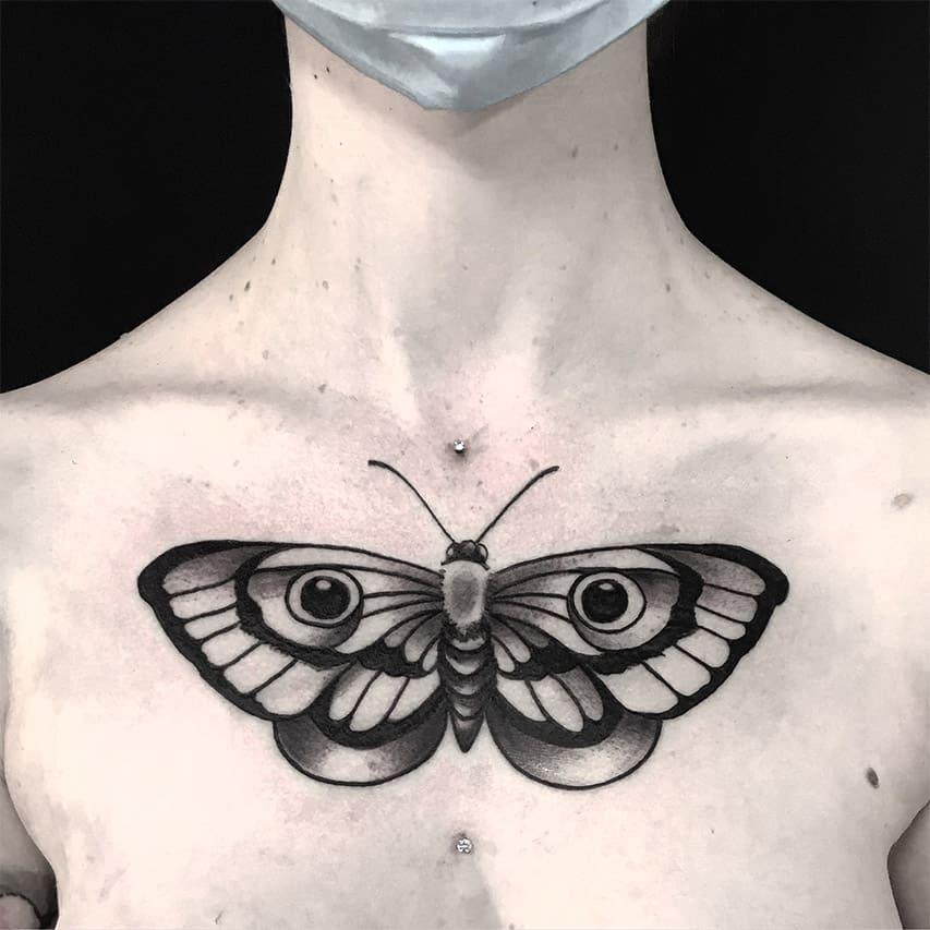 Giulio Canepa Tattoo Farfalla