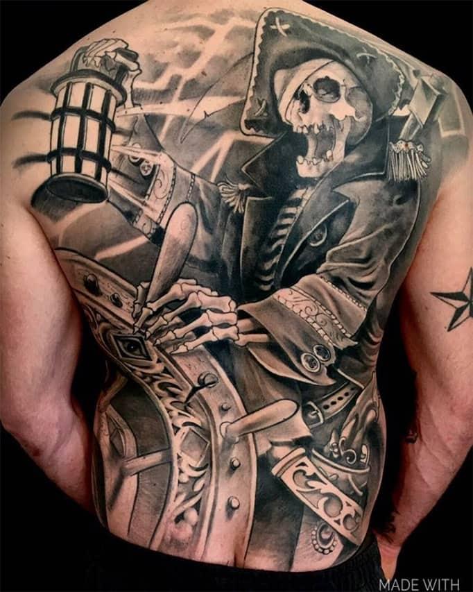 Giulio Canepa Tattoo Pirata Back Piece
