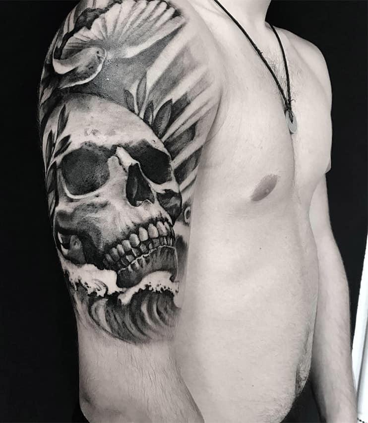 Giulio Canepa Tattoo Teschio